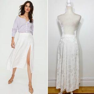 WILFRED white Cherie high waist slit midi skirt